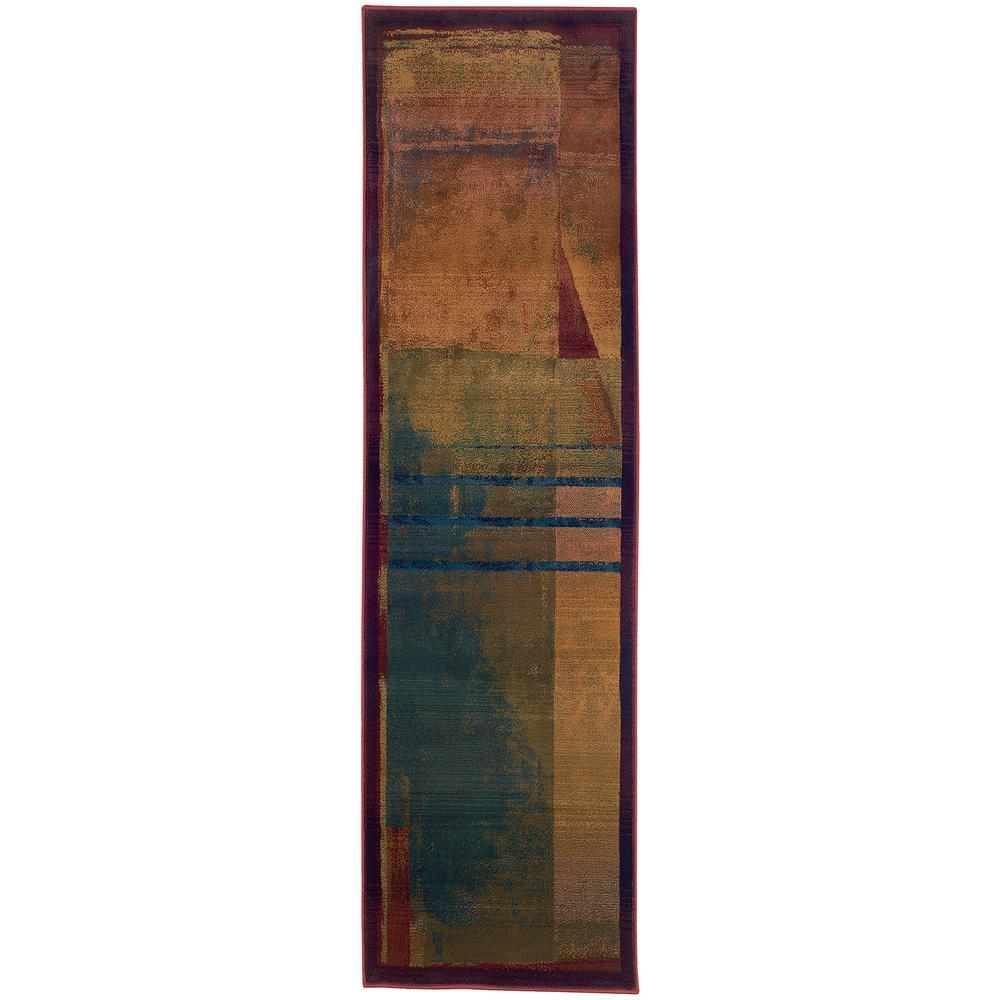 Home Decorators Collection Wisdom Multi 2 Ft 6 In X 9 Ft 1 In Runner 2618090910 The Home Depot