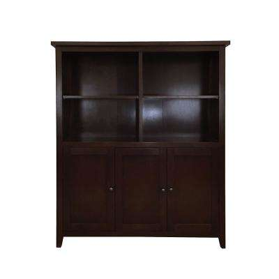 Brookdale Dark Walnut 2-Tier Standard Bookcase