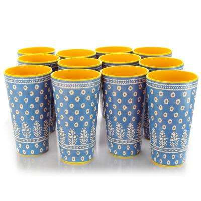 Zoey 20 oz. Aqua Melamine Tumbler (Set of 12)