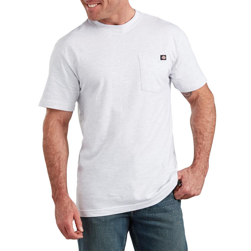 Men's Ash Gray Short Sleeve Pocket Tee