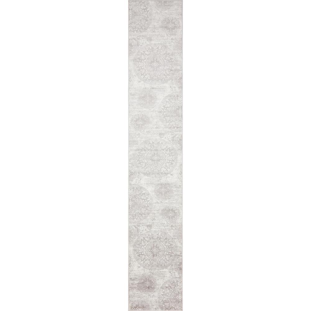Sofia Grand Light Gray 3' 3 x 19' 8 Runner Rug