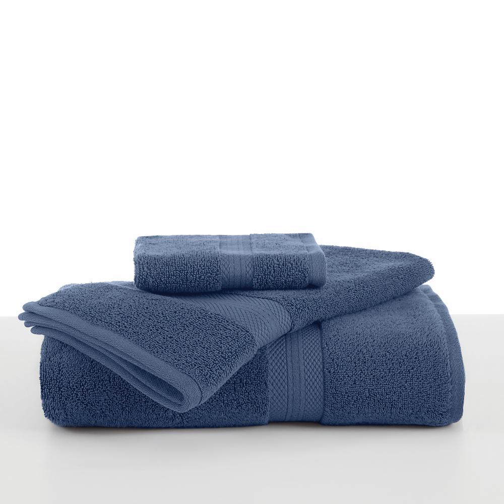 Abundance Cotton Blend  Hand Towel in Blue