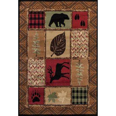 Woodside Hunter's Patchwork 7 ft. 10 in. x 10 ft. 6 in. Oversize Area Rug