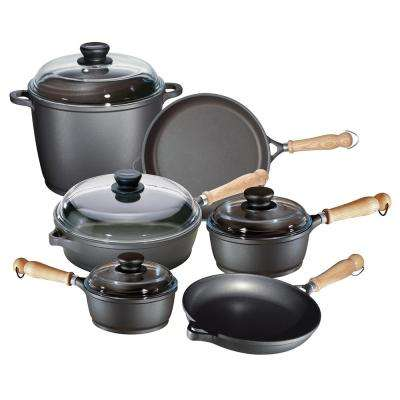 "Tradition 10-Piece Non Stick Cast Aluminum ""Cookware Set"" with Lids"