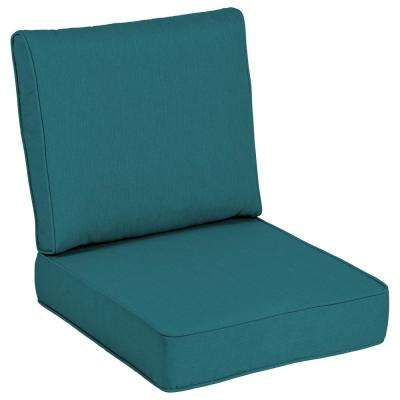 Sunbrella Spectrum Peacock Outdoor Lounge Chair Cushion