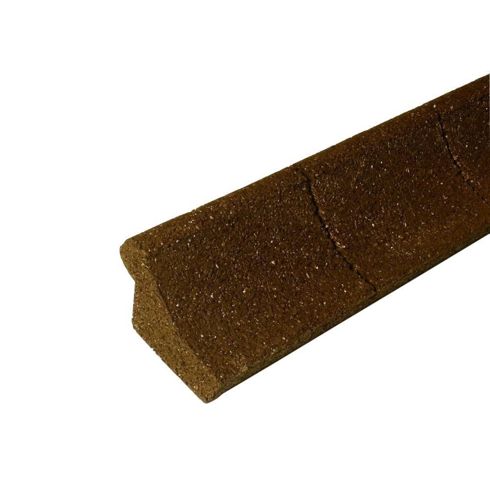 4 ft. Brown Rubber Curb Landscape Edging (4-Pack)