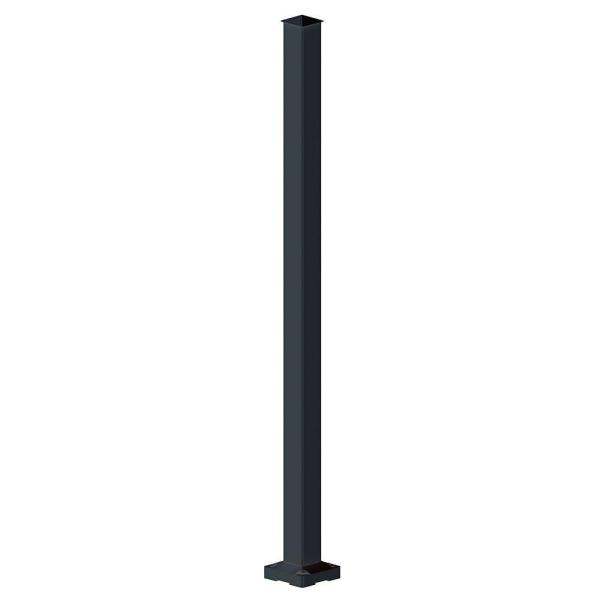 2 in. x 2 in. x 42 in. Black Aluminum Stair Post
