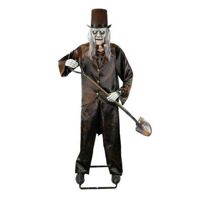 72 in. Animated Grave Digger Skeleton with LED Illuminated Eyes