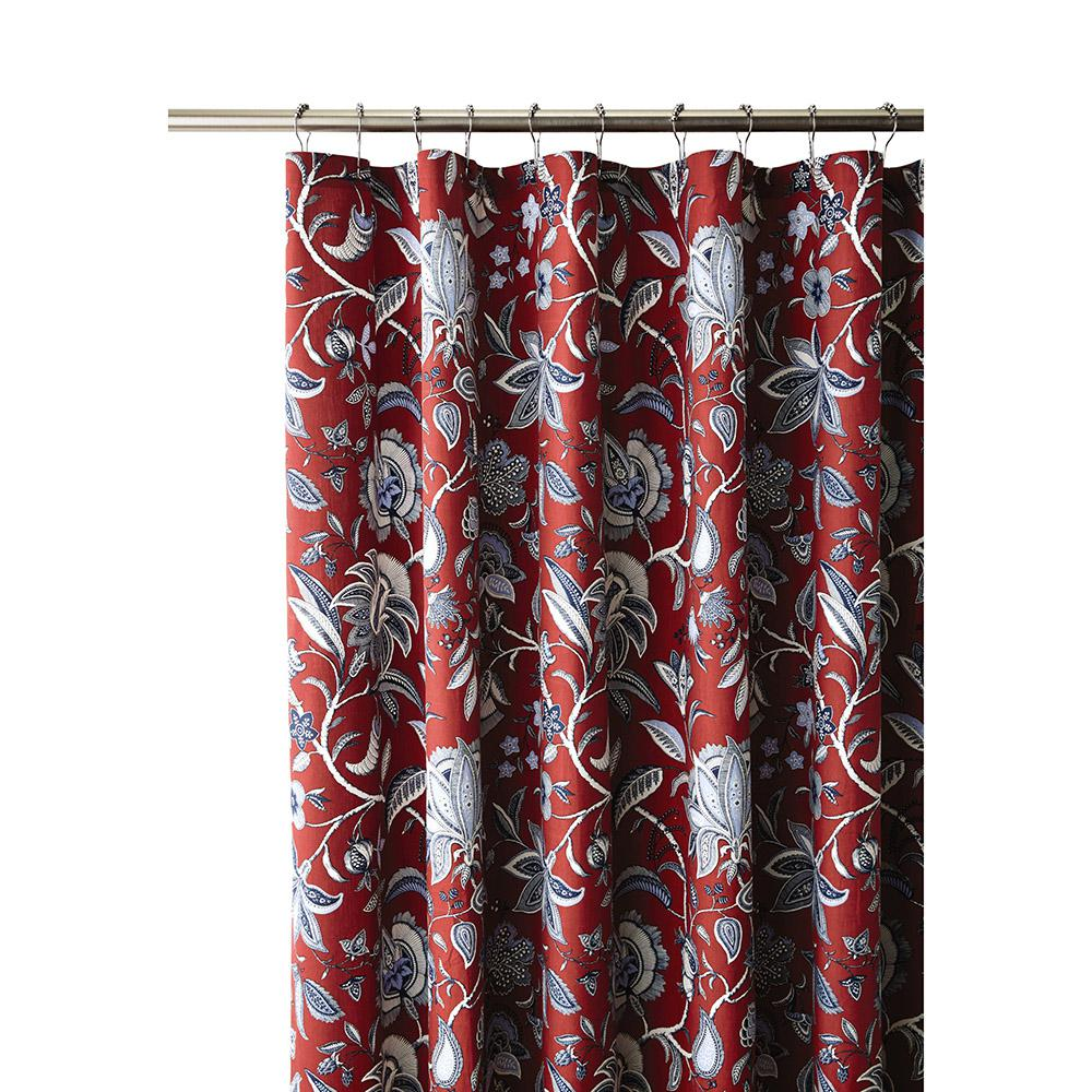 Heritage Garden 72 in. Shower Curtain in Patriotic