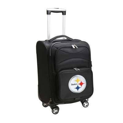 NFL Pittsburgh Steelers 21 in. Black Carry-On Spinner Softside Suitcase