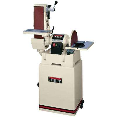 1.5 HP 6 in. x 48 in. Belt and 12 in. Disc Sander with Closed Stand, 115/230-Volt JSG-6CS
