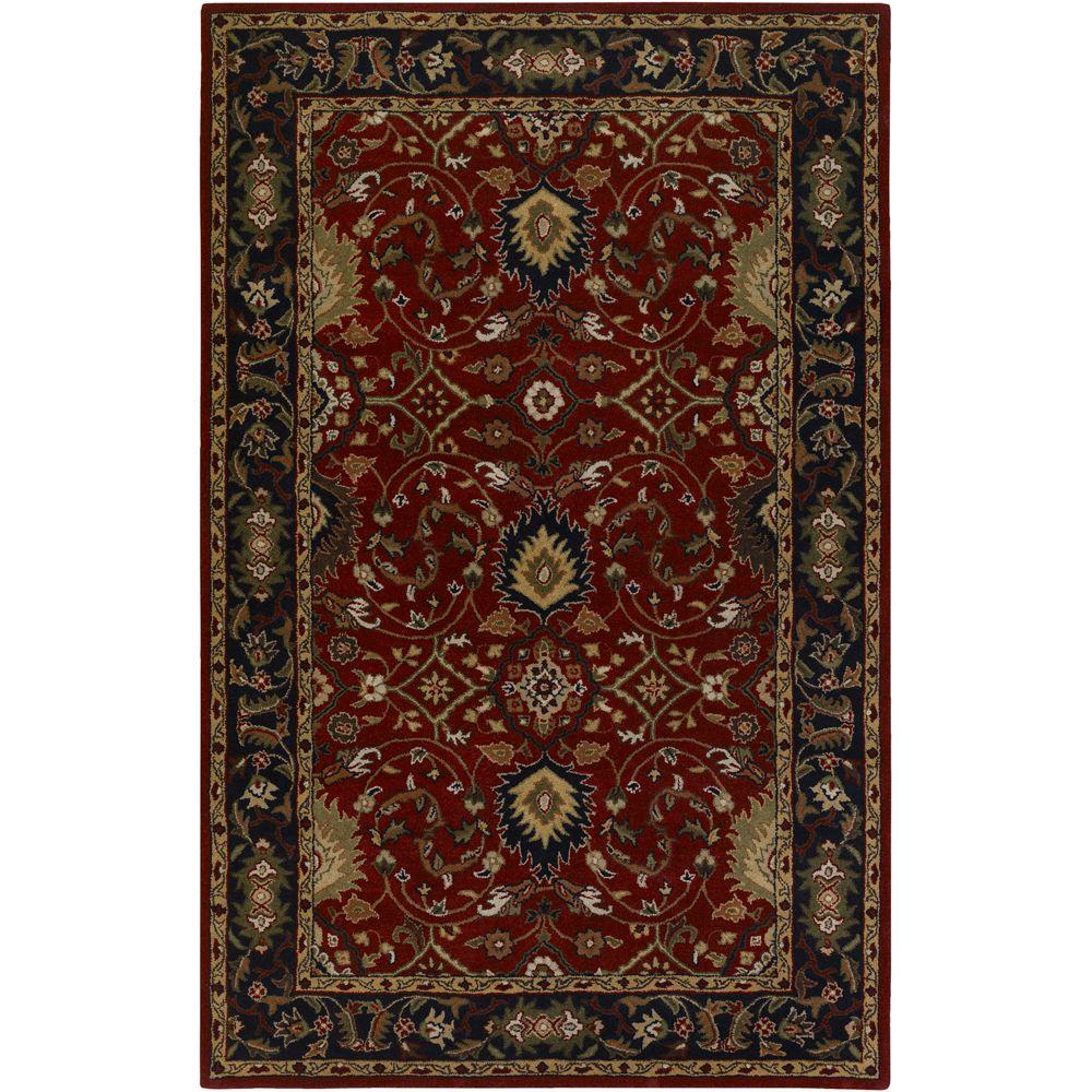 John Red 9 ft. x 12 ft. Area Rug