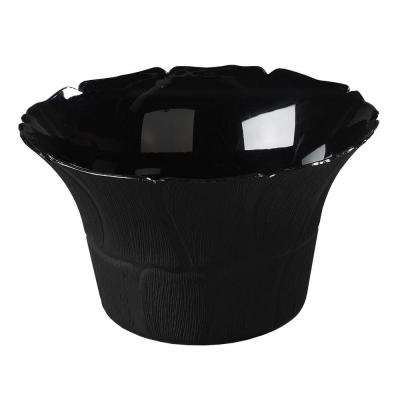 3.5 qt. Polycarbonate Petal Mist Bell Bowl in Black (Case of 4)