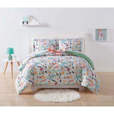 Kids Animal Alphabet Multi Full and Queen Comforter Set