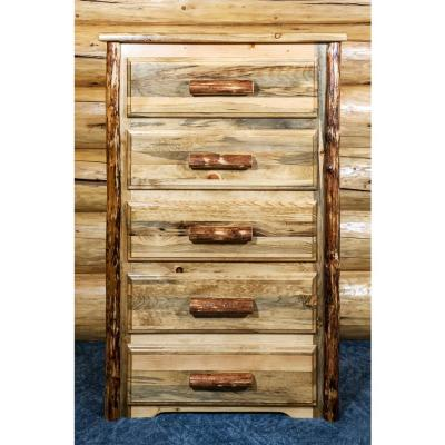 Glacier Country 5-Drawer Stained and Lacquered Chest