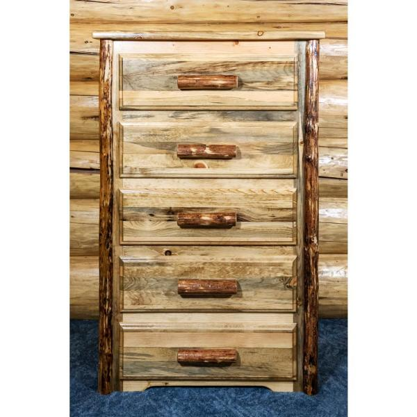 Montana Woodworks Glacier Country 5-Drawer Stained and Lacquered Chest