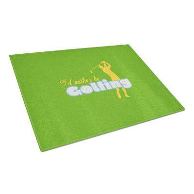 I'd rather be Golfing Man on Green Tempered Glass Large Cutting Board