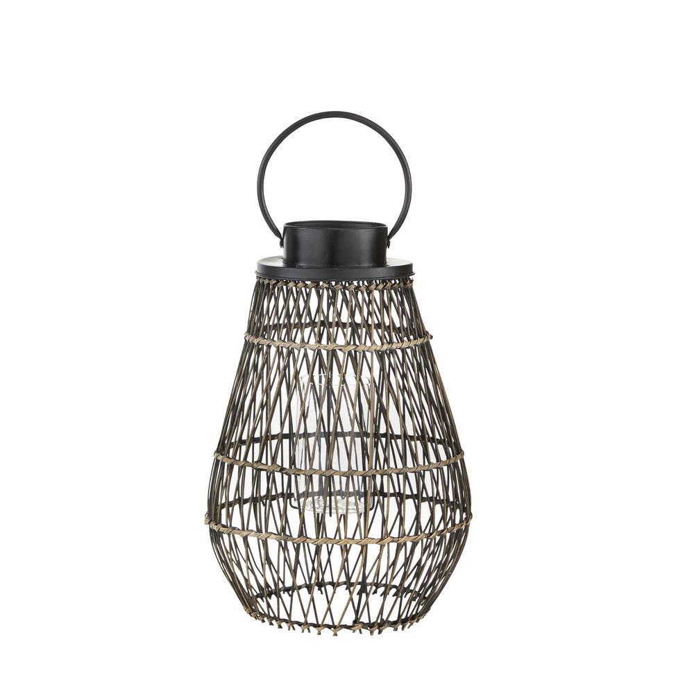 21.7 in. Small Outdoor Patio Bamboo Lantern