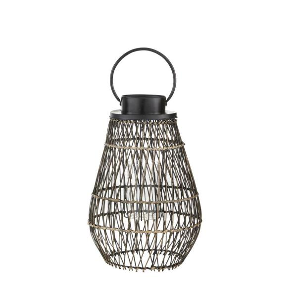 21.7 in. Small Outdoor Patio Bamboo Lantern