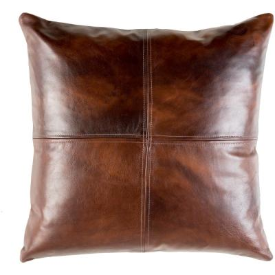 Rico Brown Solid Polyester 20 in. x 20 in. Throw Pillow