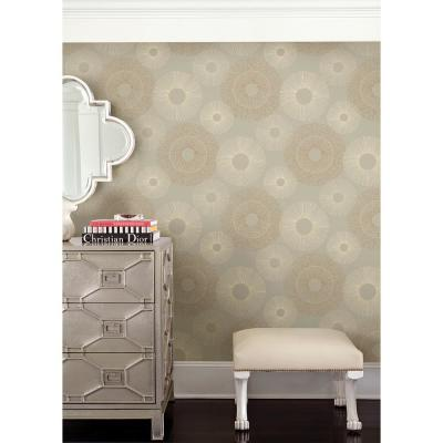 Eternity Taupe Geometric Wallpaper Sample