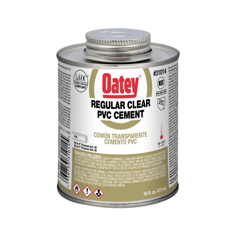 Oatey 16 oz  PVC Clear Solvent Cement