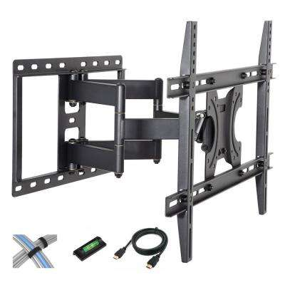 Tilt-Swivel Wall Mount with 6 ft. HDMI Cable, Cable Ties and Leveler for 42 in. - 70 in. Screen
