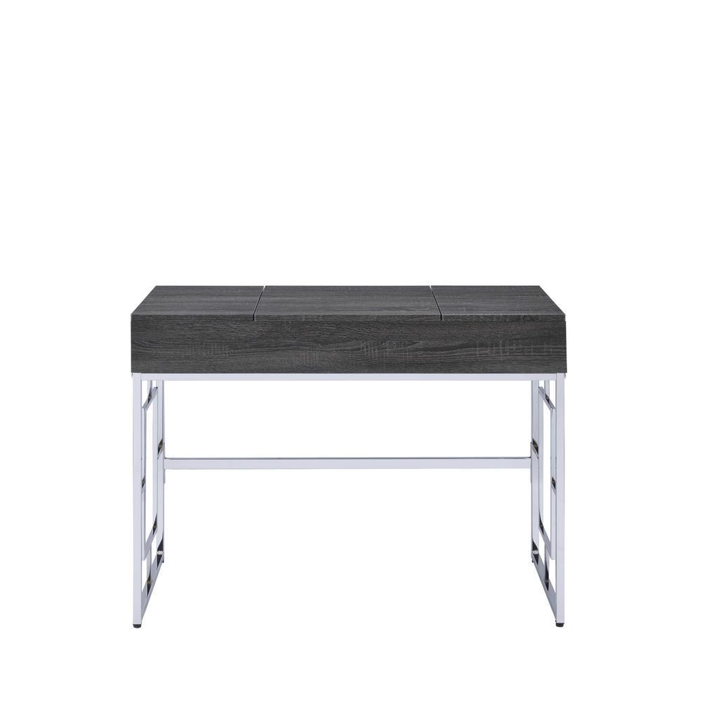 Saffron Chrome and Black Vanity Desk