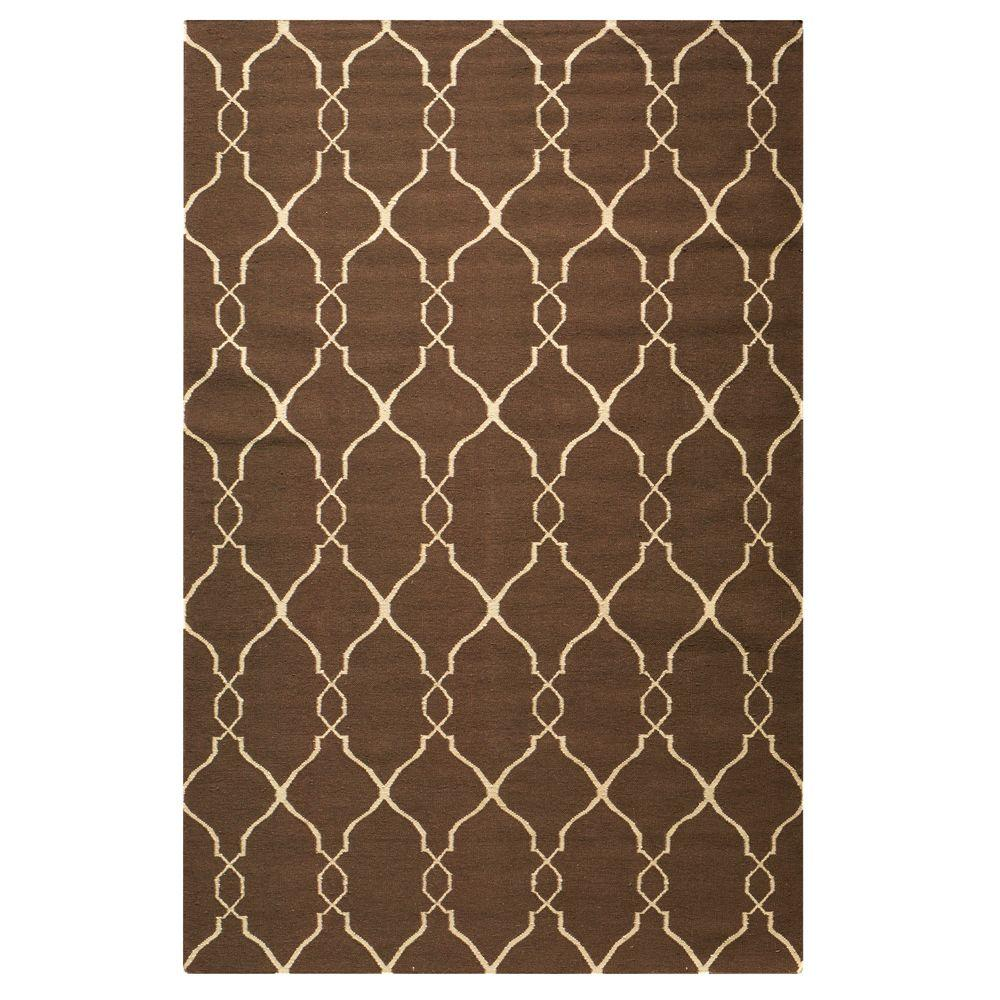 Home Decorators Collection Argonne Brown 5 ft. x 8 ft. Ar...
