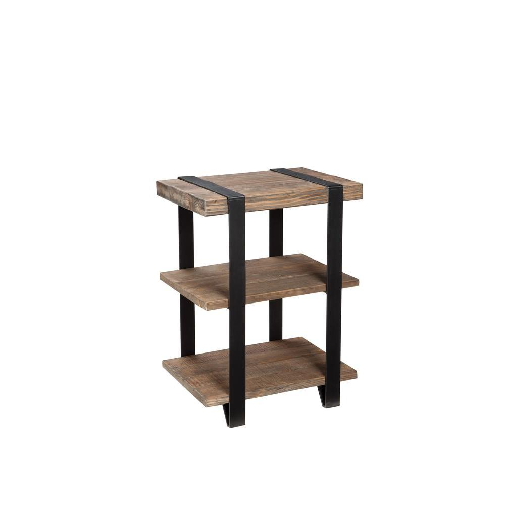 Alaterre Furniture Modesto Natural Storage End Table Amsa0220 The Home Depot