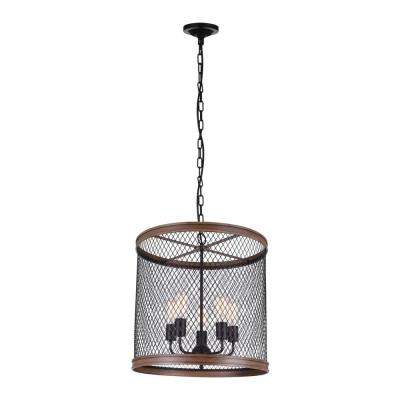 Torres 5-Light Black Chandelier