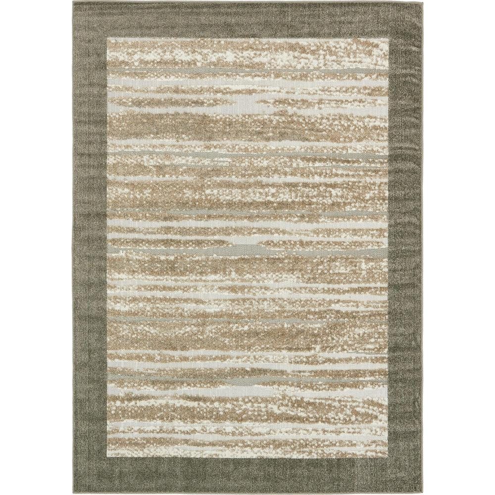 Outdoor Rug 7 X 10: Unique Loom Outdoor Modern Brown 7' X 10' Rug-3132584