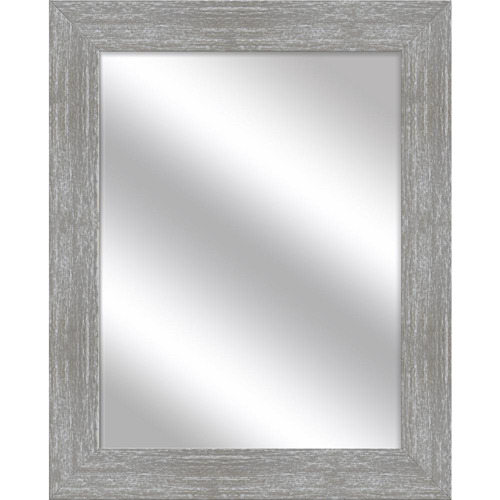 Ptm Images Medium Rectangle Gray Wash Art Deco Mirror 31 5 In H X 25 5 In W 5 15359 The Home Depot