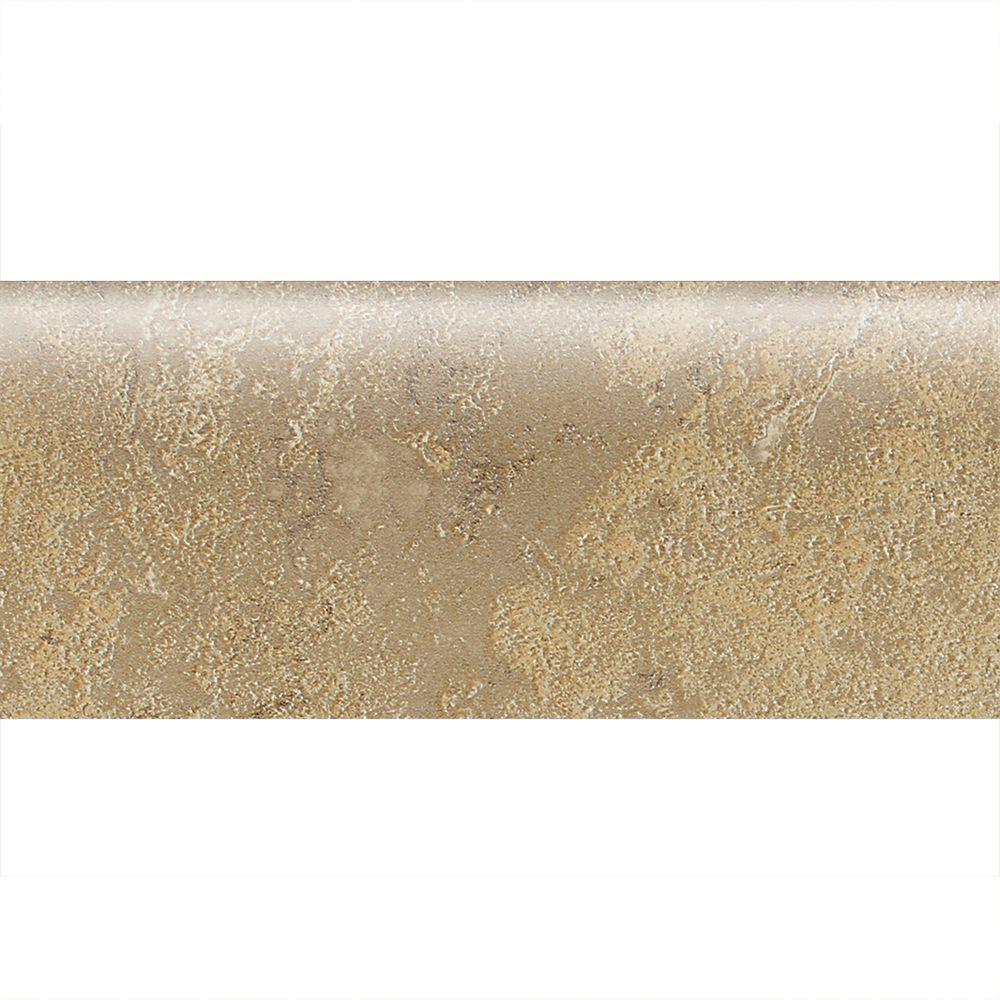 Sandalo Raffia Noce 2 in. x 6 in. Ceramic Bullnose Wall Tile