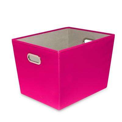 60 Qt. Hot Pink with Copper Handles Canvas Tote