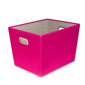 Honey-Can-Do 60 Qt. Hot Pink with Copper Handles Canvas Tote by Honey-Can-Do