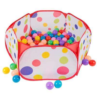 6-sided Pop-Up Ball Pit Tent with 200-Balls
