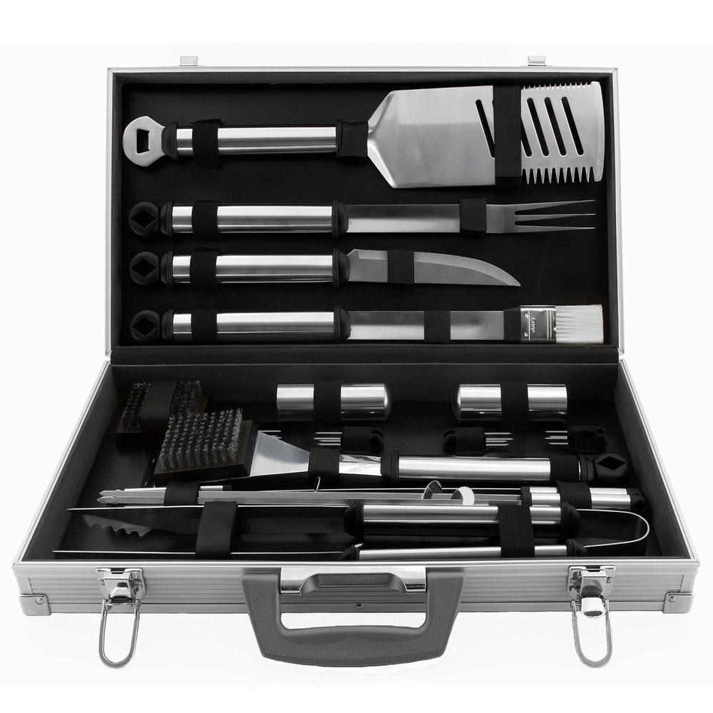 Mr. Bar-B-Q 21-Piece Stainless Steel Grill Tool Set-DISCONTINUED