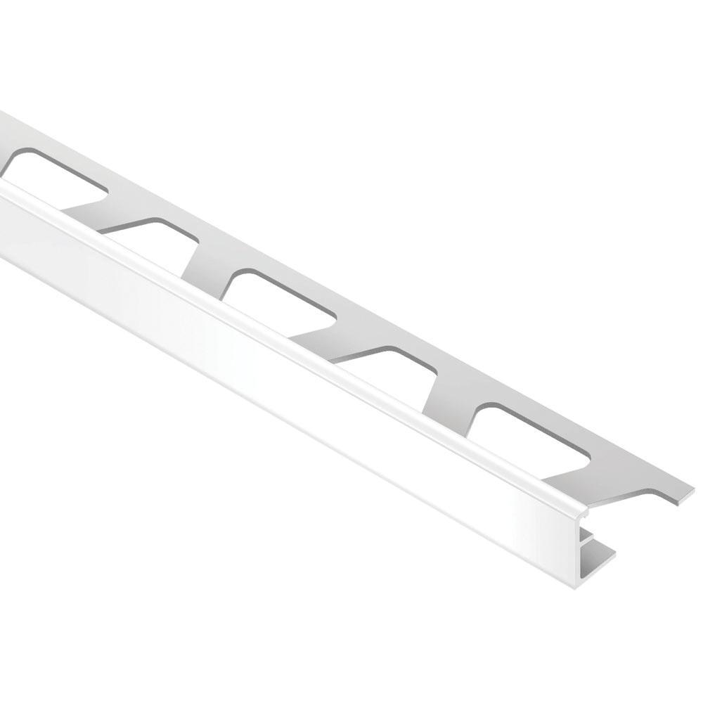 Jolly Bright White 7/16 in. x 8 ft. 2-1/2 in. PVC Tile Edging Trim
