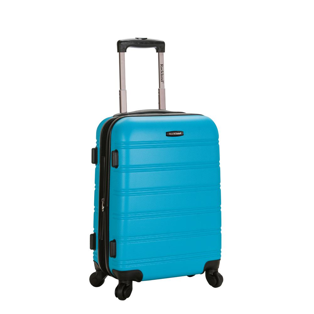 Rockland Melbourne 20 in. Expandable Carry on Hardside Spinner Luggage, Turquoise was $120.0 now $58.8 (51.0% off)