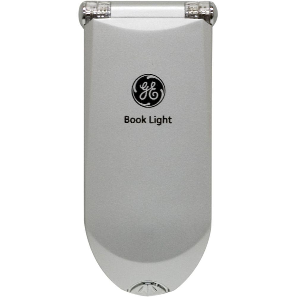 GE Silver LED Battery-Operated Clip-On Book Light
