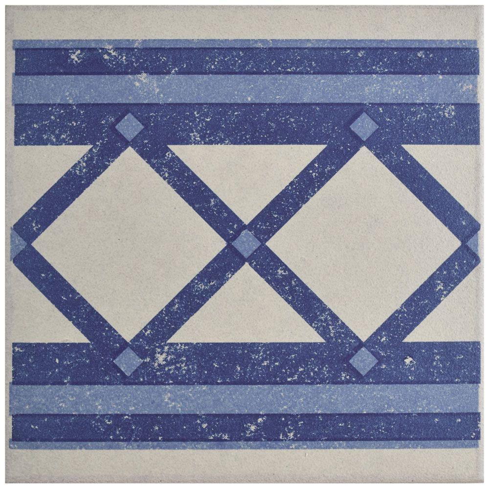 Cementi Quatro Ara Cenefa 7 in. x 7 in. Porcelain Floor