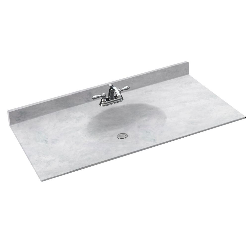 Chesapeake 43 in. Solid Surface Vanity Top with Basin in Ice
