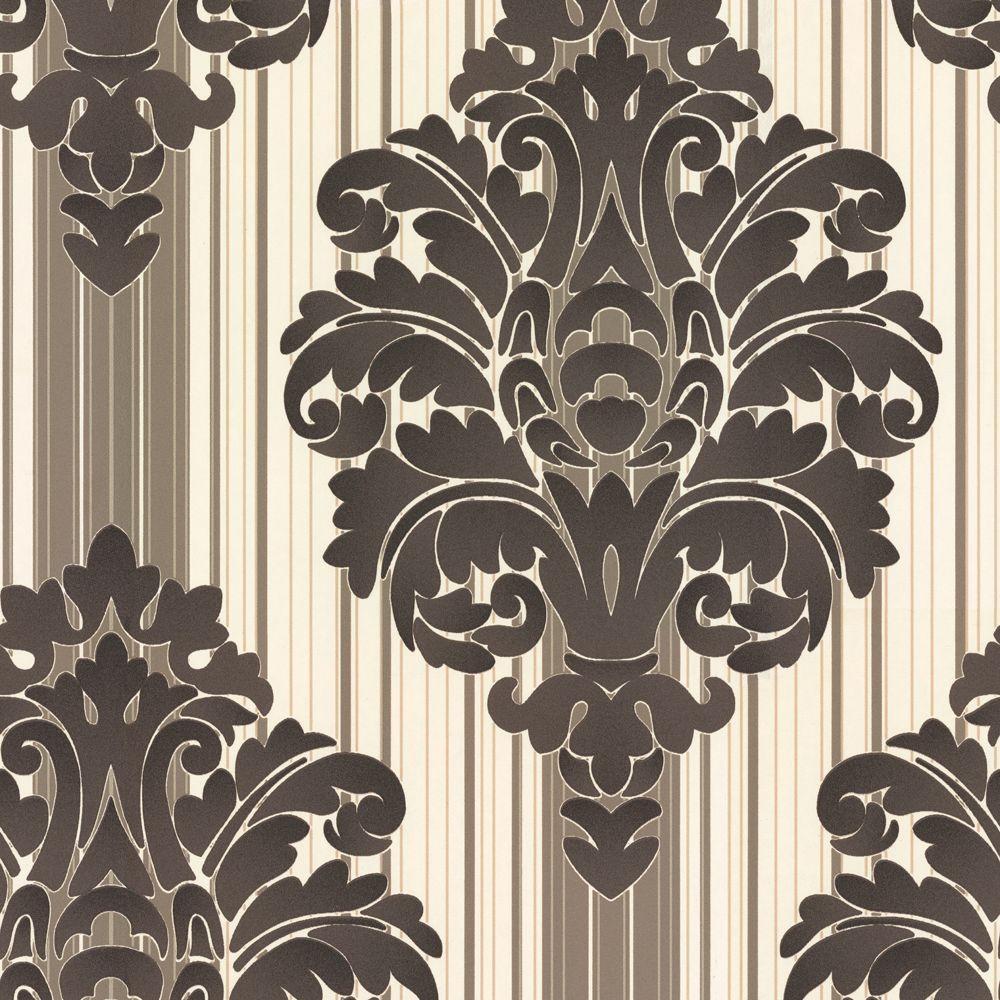 The Wallpaper Company 8 in. x 10 in. Jade Damask Wallpaper Sample