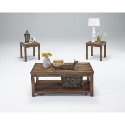 Silverton Driftwood Cocktail Table and 2-End Tables (3-Pack)
