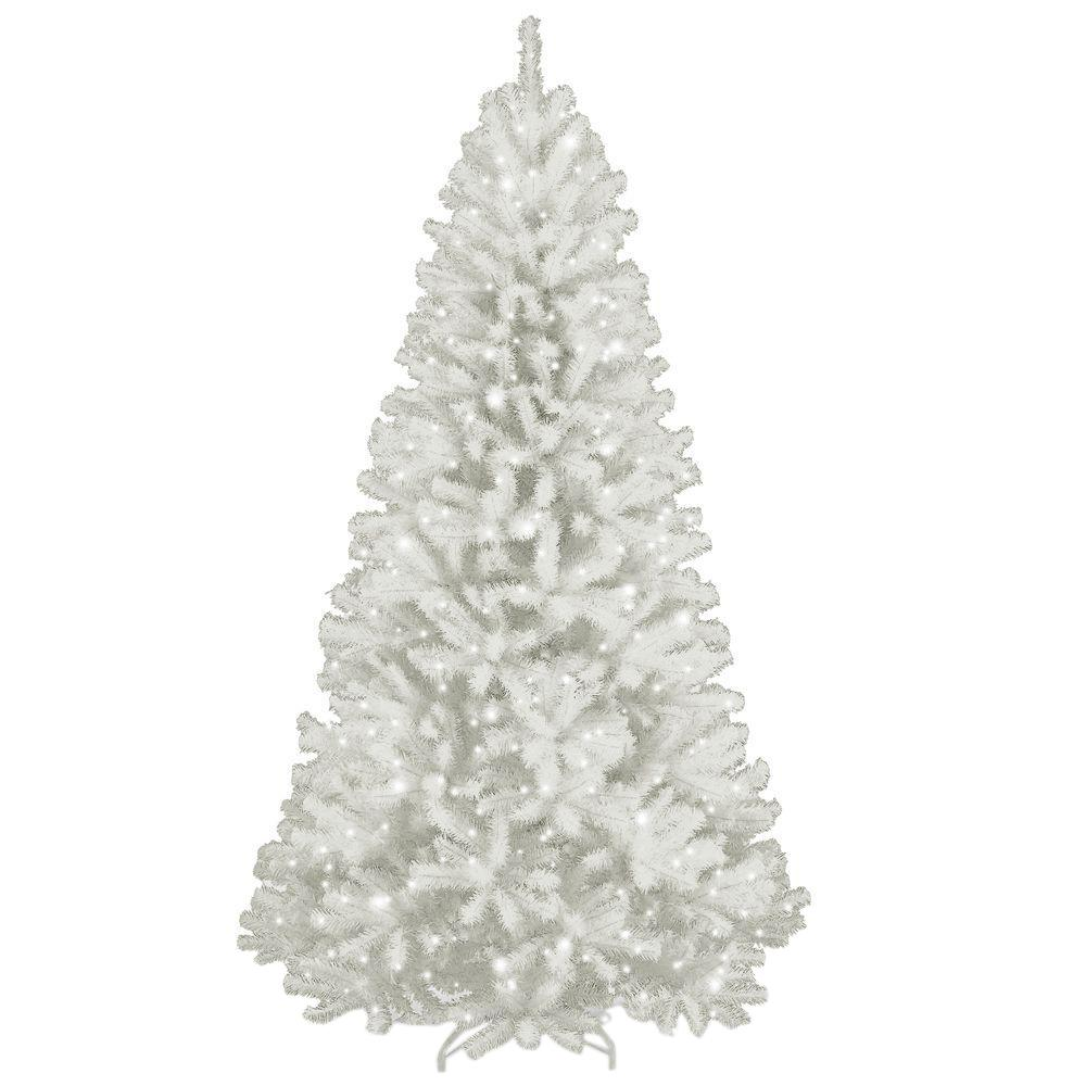 national tree company 7 ft north valley white spruce hinged artificial christmas tree with glitter - Glitter Christmas Tree