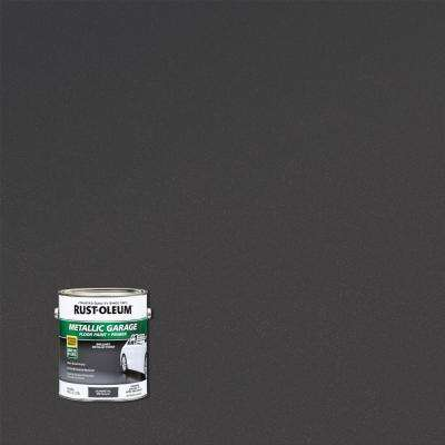 1 gal. Metallic Gunmetal Concrete Floor Interior/Exterior Paint and Primer (2-Pack)