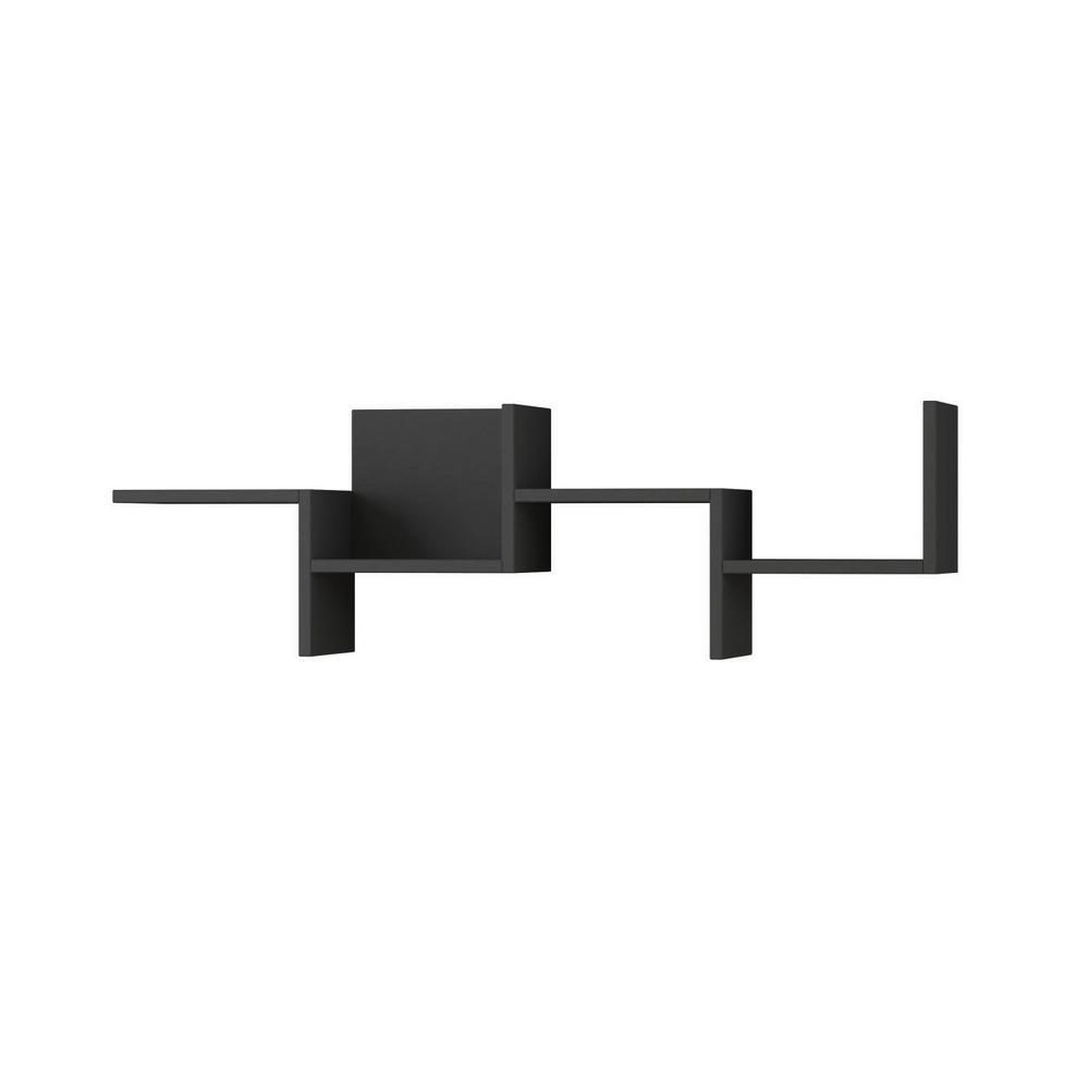 Watson Anthracite Mid-Century Modern Wall Shelf
