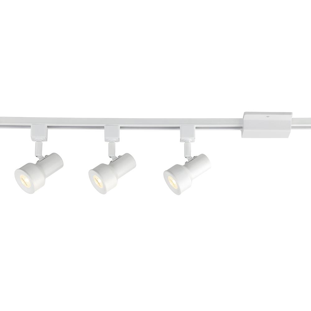 Envirolite track lighting lighting the home depot solid white integrated led track lighting kit with 3 small step cylinder aloadofball Images