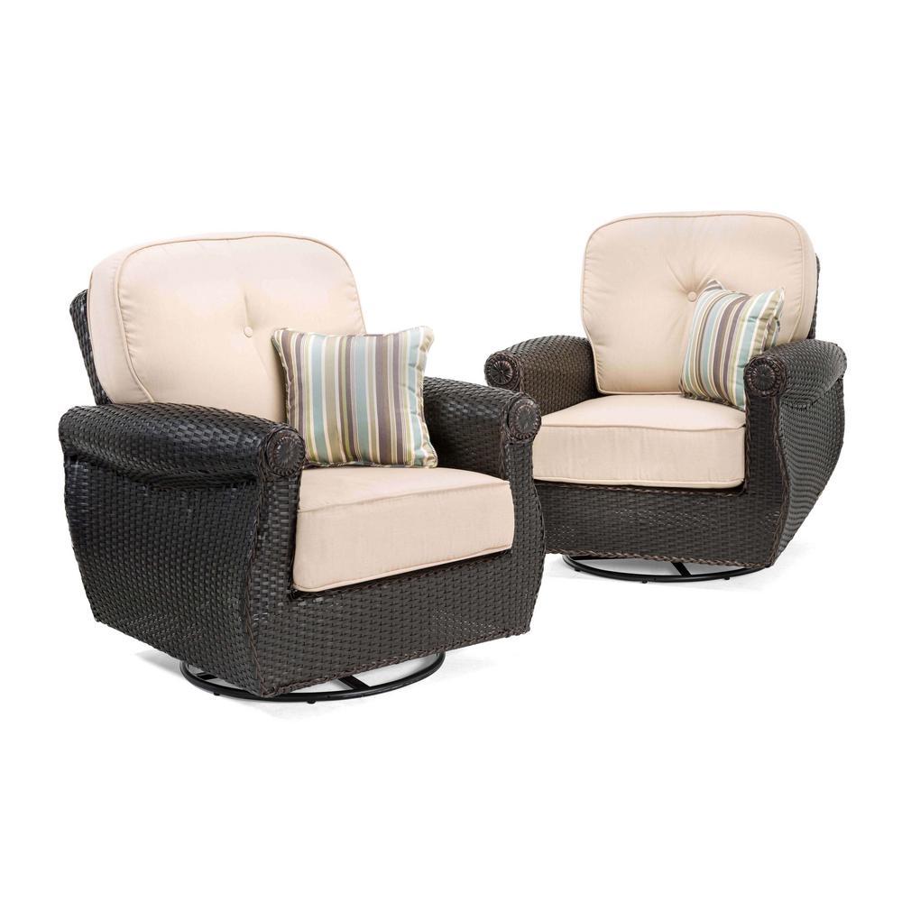 La Z Boy Breckenridge Swivel Wicker Outdoor Lounge Chair
